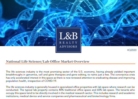 National Life Science/Lab Office Market Overview